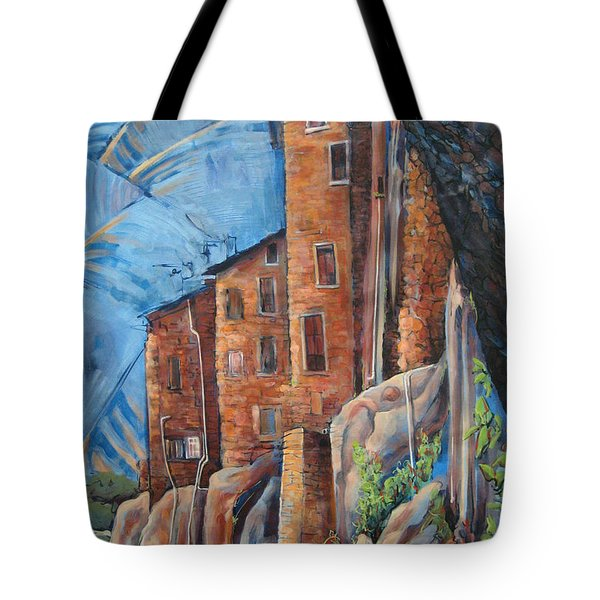 La Rocca Citta Lg Italy Tote Bag