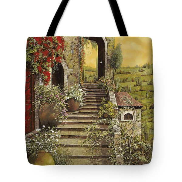 Tote Bag featuring the painting La Scala Grande by Guido Borelli