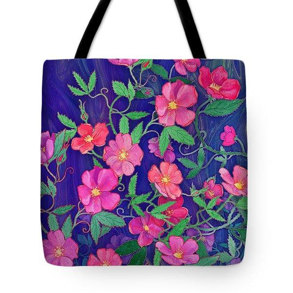 Tote Bag featuring the mixed media La Vie En Rose by Teresa Ascone