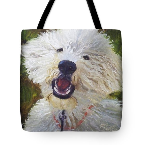 Labradoodle Tote Bag by Alice Leggett