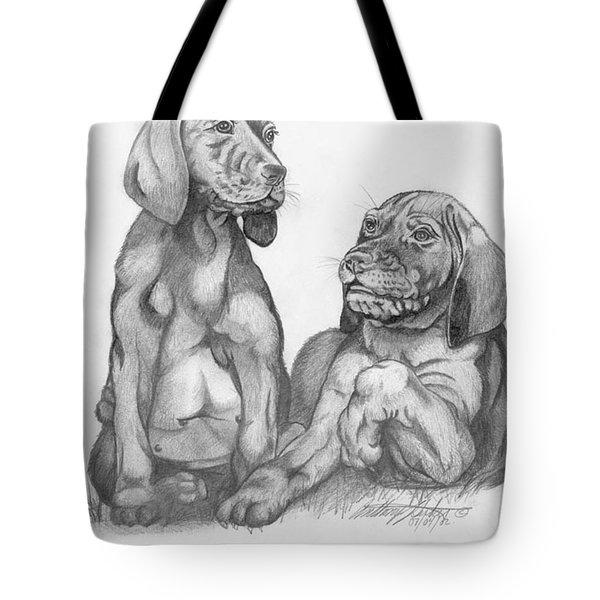 Labrador Retriver Puppies Tote Bag