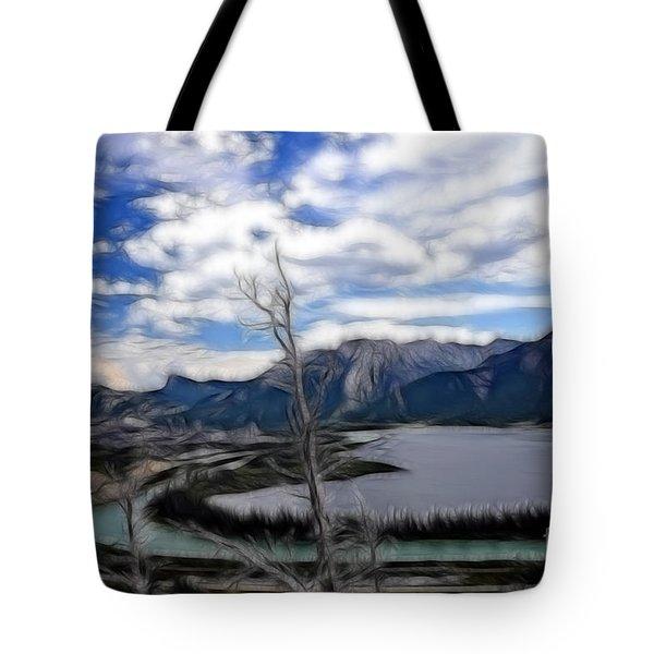 Lac Des Arcs Fractal Tote Bag