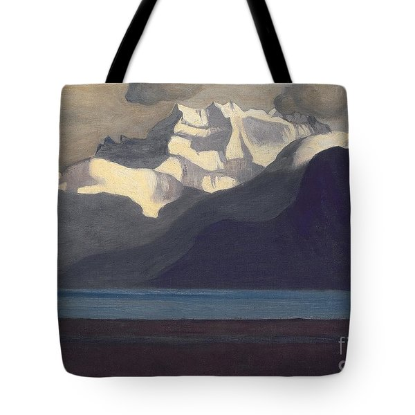 Lac Leman And Les Dents-du-midi Tote Bag by Felix Edouard Vallotton