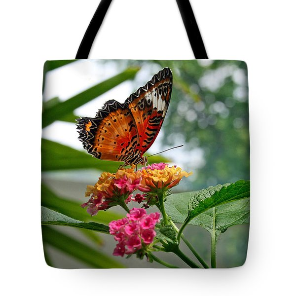 Lacewing Butterfly Tote Bag by Karen Adams