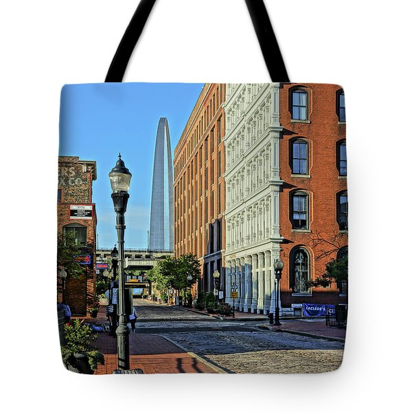Laclede's Landing Just North Of The Arch Tote Bag