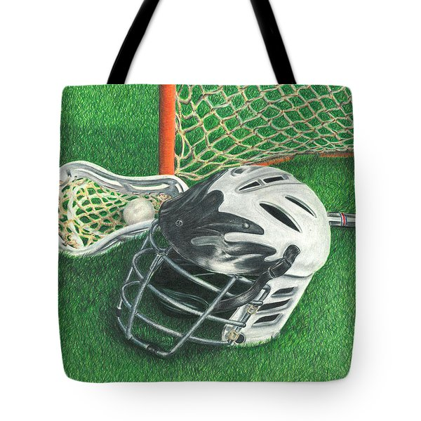 Lacrosse Tote Bag by Troy Levesque