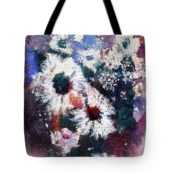 Tote Bag featuring the painting Lacy Petals by Joan Hartenstein
