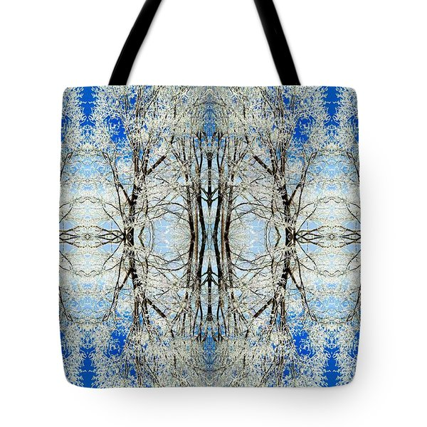 Lacy Winter Trees Abstract Art Photo Tote Bag