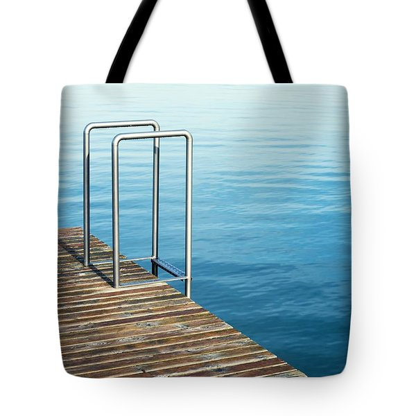 Tote Bag featuring the photograph Ladder by Chevy Fleet
