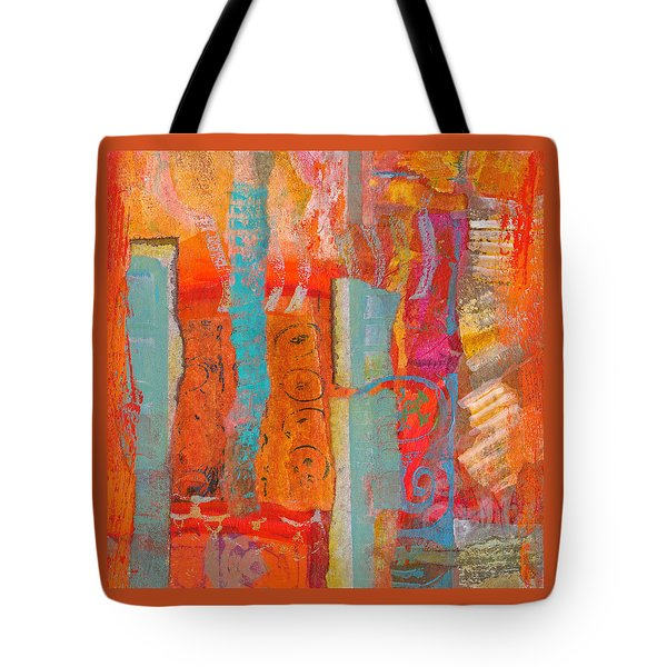 Ladder To Nowhere Tote Bag by Catherine Redmayne