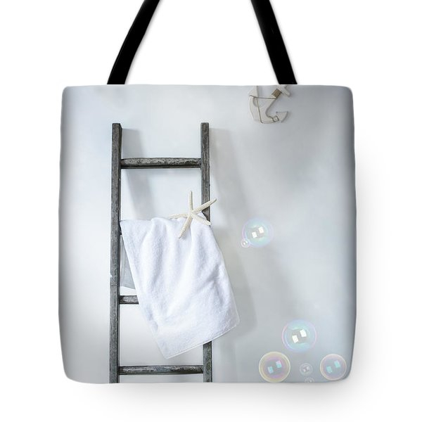 Ladder With Towel Tote Bag