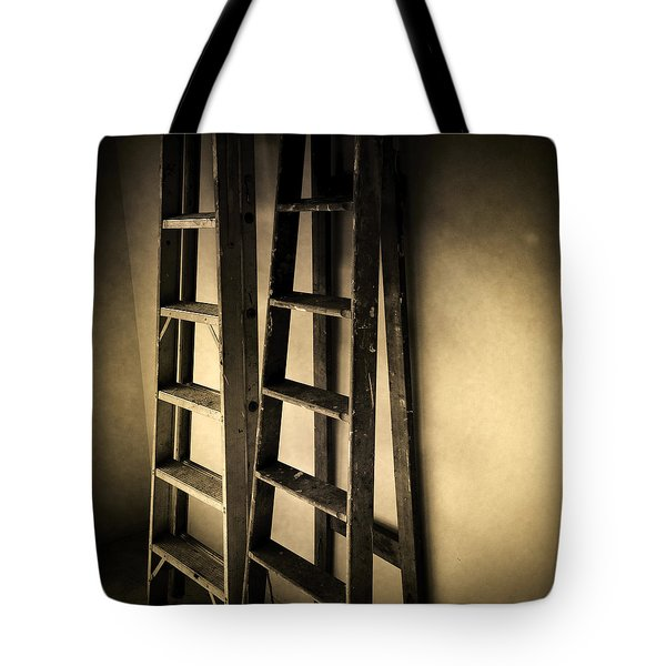 Ladders Tote Bag by Les Cunliffe
