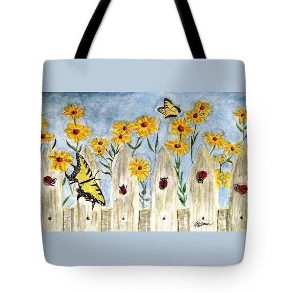 Ladies In The Garden Tote Bag by Angela Davies