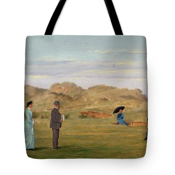 Ladies Match At Westward Ho Tote Bag by Francis Powell Hopkins