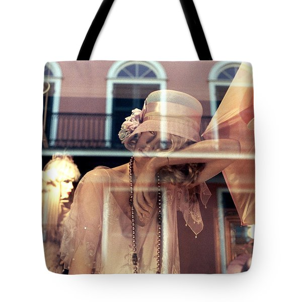 Tote Bag featuring the photograph Ladies Of The French Quarter by Nadalyn Larsen