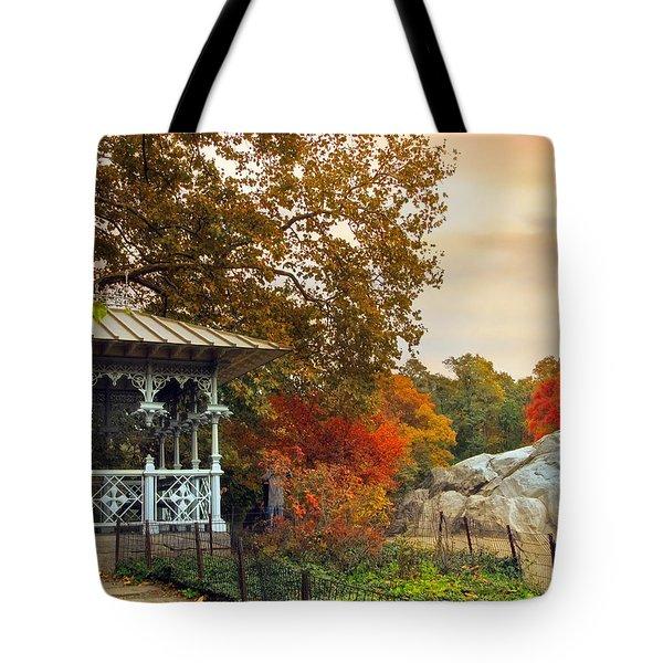 Ladies Pavilion In Autumn Tote Bag