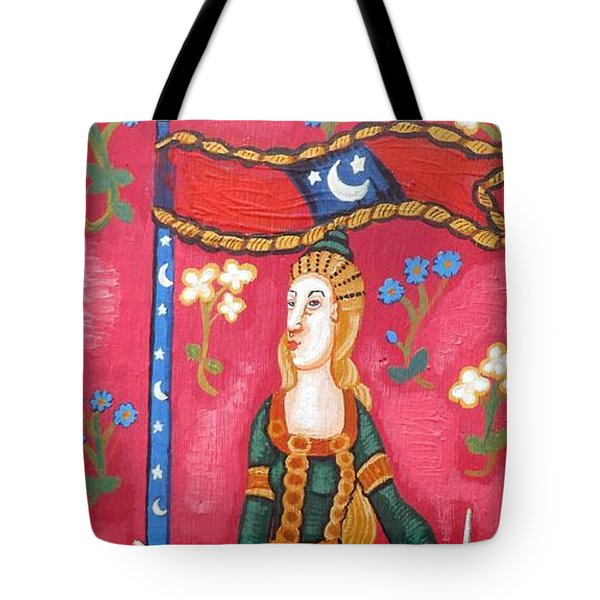 Lady And The Unicorn La Pointe Tote Bag by Genevieve Esson