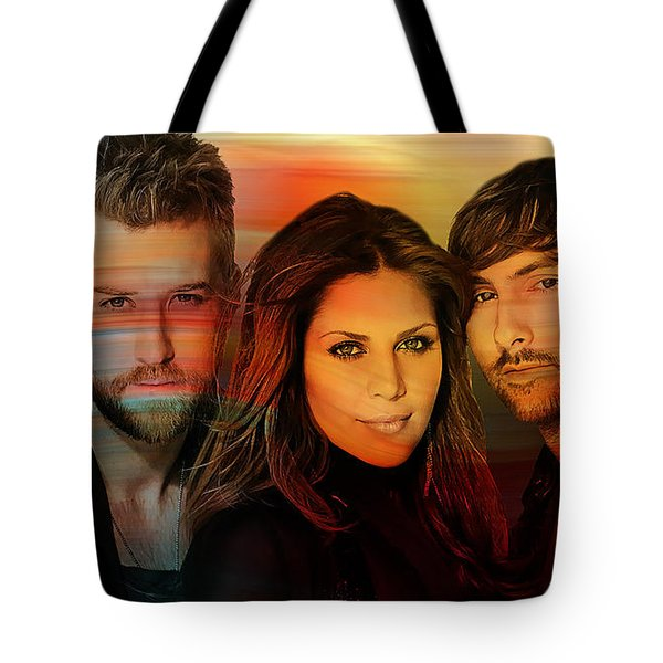 Lady Antebellum Tote Bag by Marvin Blaine
