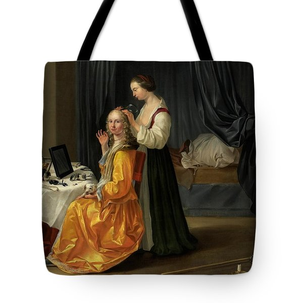 Lady At Her Toilet Tote Bag by Netherlandish School