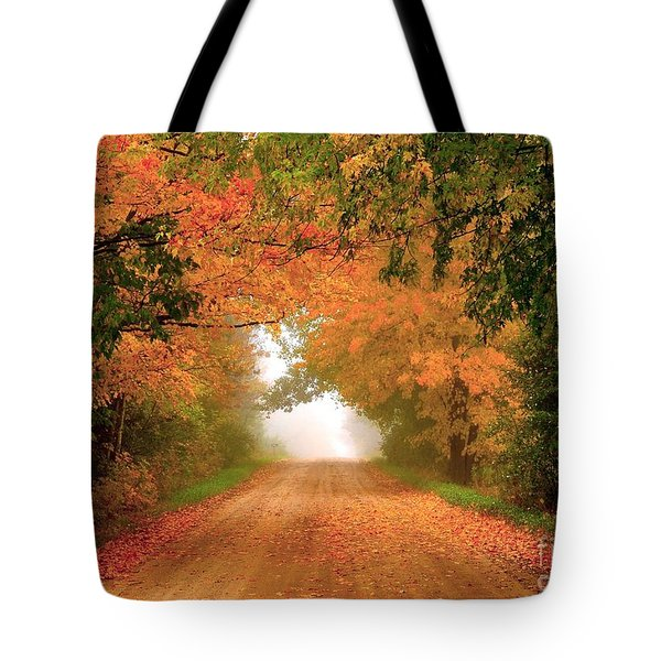 Lady Autumn Tote Bag