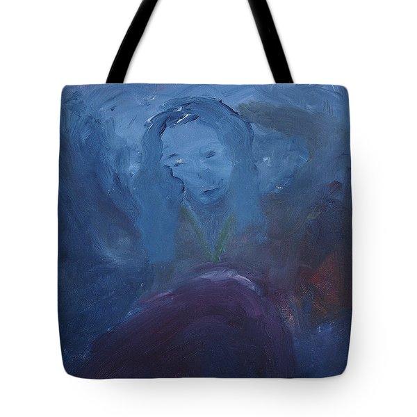 Lady Blue Tote Bag