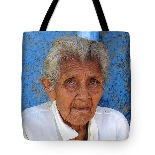 Lady Blue Tote Bag