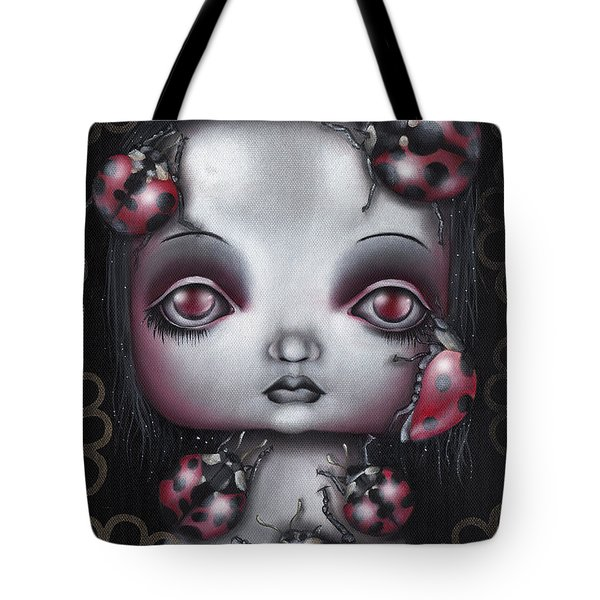 Lady Bug Girl Tote Bag by Abril Andrade Griffith