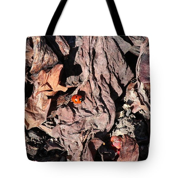 Lady Bug In Spring Tote Bag