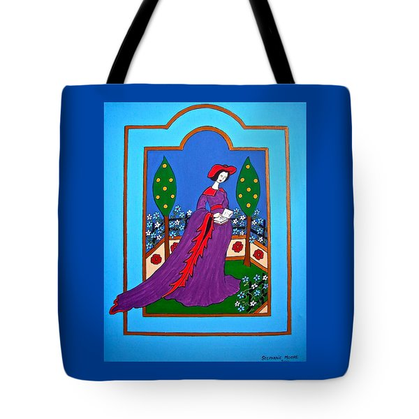 Lady In A Garden Tote Bag