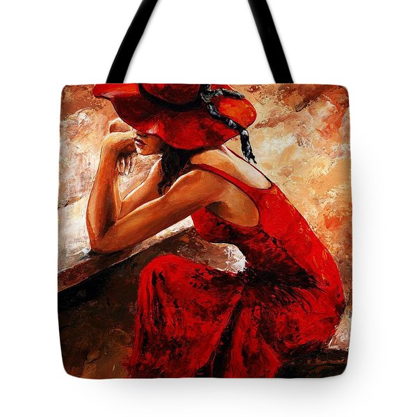 Lady In Red 21 Tote Bag