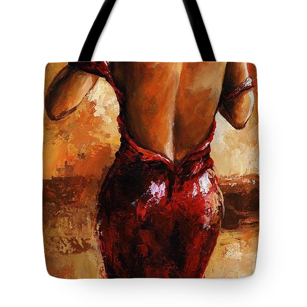 Lady In Red /24 Tote Bag by Emerico Imre Toth
