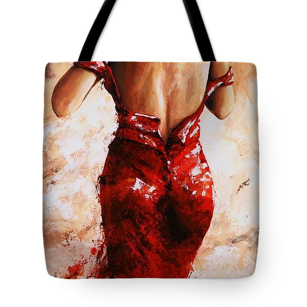 Lady In Red #24 Large  Tote Bag