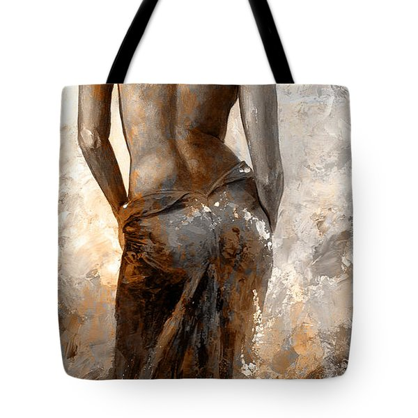 Lady In Red #27 Digital Colored Rust Tote Bag by Emerico Imre Toth