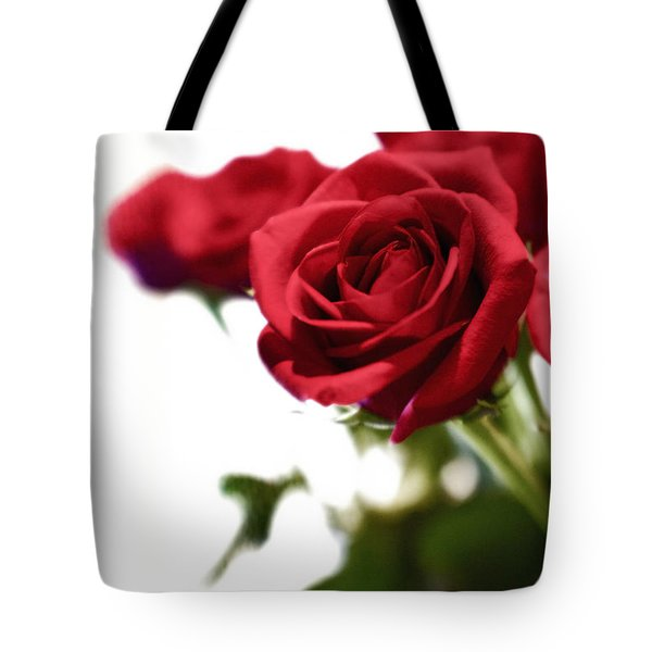 Lady In Red Tote Bag by Scott Pellegrin