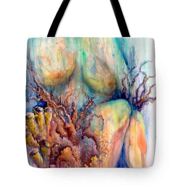 Lady In The Reef Tote Bag