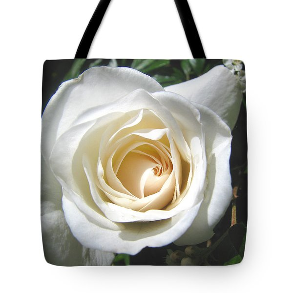Tote Bag featuring the photograph Lady In White by Brooks Garten Hauschild
