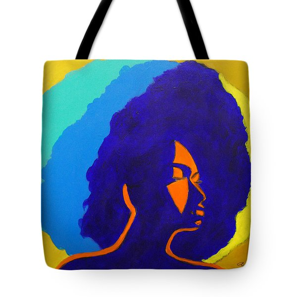 Lady Indigo Tote Bag