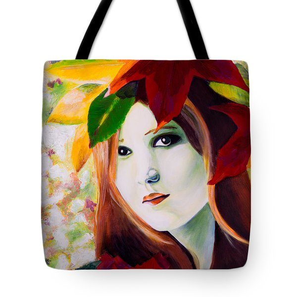 Lady Leaf Tote Bag