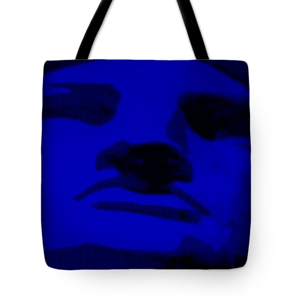 Lady Liberty In Blue Tote Bag by Rob Hans