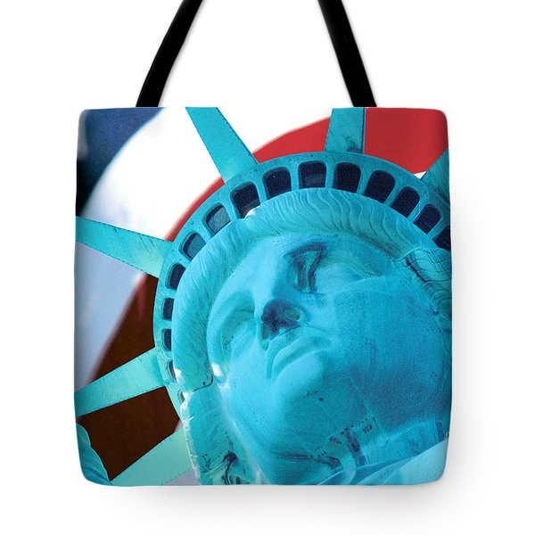 Tote Bag featuring the photograph Lady Liberty  by Jerry Fornarotto