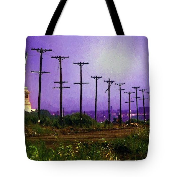 Lady Liberty Lost Tote Bag