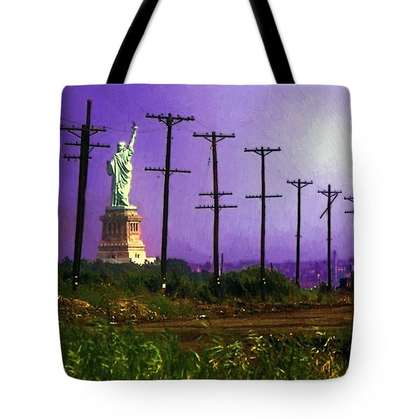 Lady Liberty Lost Tote Bag by RC deWinter