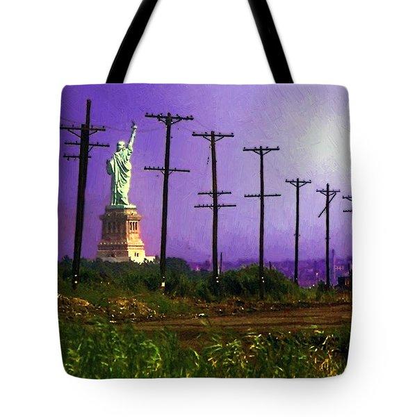 Lady Liberty Lost Tote Bag