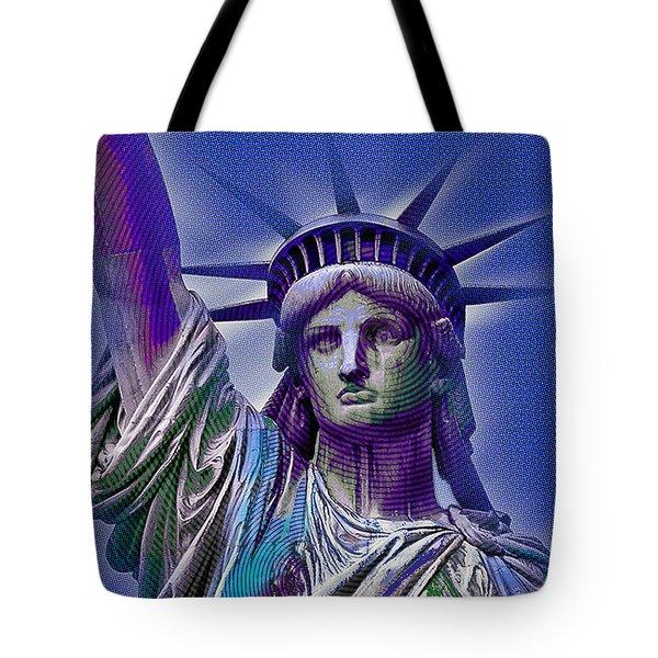 Lady Liberty Tote Bag by Tony Rubino