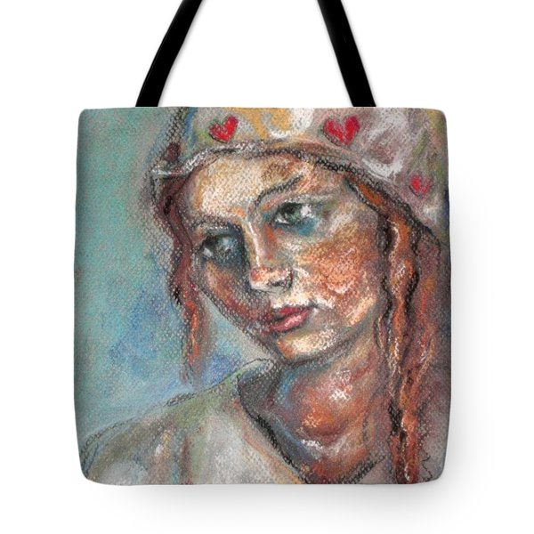 Lady Of Hearts Tote Bag by Carrie Joy Byrnes