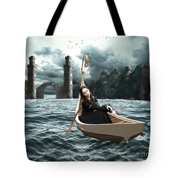 Lady Of Llyn-y-fan Fach Tote Bag by Linda Lees