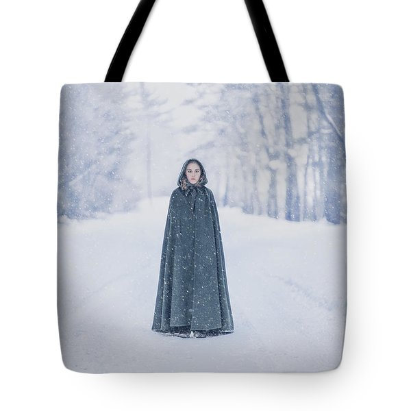 Lady Of The Winter Forest Tote Bag