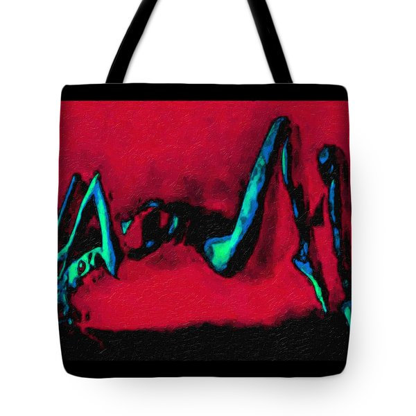 Lady On Red Tote Bag