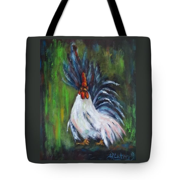 Lady Pleaser, Rooster  Tote Bag