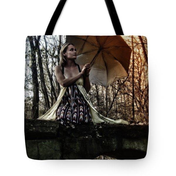 Lady Rain Tote Bag